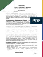 Constitución Cooperativa de Transporte