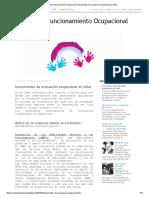 Análisis Del Funcionamiento Ocupacional_ Instrumentos de Evaluación Ocupacional en Niños