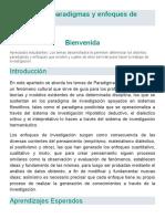 Los Paradigmaigacions y enfoques de invest