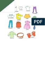 Vocabulario ropa en francés