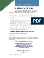 Imf Iran Article IV Consultation