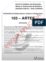 IFB Prof 103 Artes