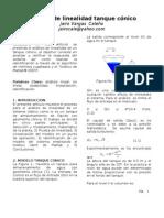 Analisis de Lineal Id Ad Tanque Conico