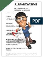 OrnelasG Las Relaciones Entre La Innovacion La Investigacion Educativa y La Interdiciplina.doc