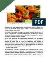 Consejos Sobre Alimentación Para Tratamiento Contra El Cáncer