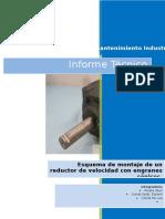 Esquema de Montaje de Una Caja Reductora Con Engrane Angular
