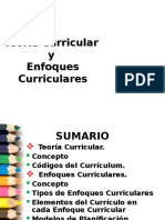Teoria Curricular y Enfoques Curriculares
