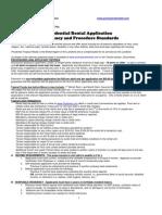 Residency Application