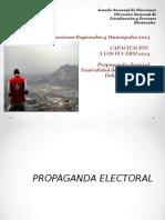 Propaganda - Neutralidad-Delitos Electorales