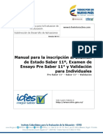 Manual Inscripcion Estudiantes Pre Saber 11 - Saber 11 - Validantes - Para Estudiantes e Individuales 2017 - V2