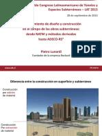 Metodo ADECO de Construccion de Tuneles Pietro Lunardi Rocksoil-sept2015