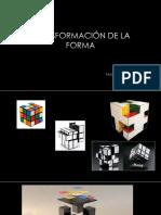 Transformación de La Forma - Taller I (Arq. Salinas)