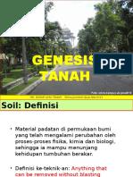 Dasar Ilmu Tanah Genesis Pembentukan Tanah