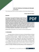 BAGIO, V. O Processo de Escrita Das DCEs Do Estado Do PR