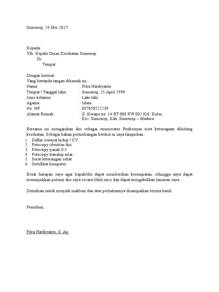 31+ Contoh surat pernyataan enumerator terbaru yang baik