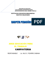 Carpinteria Tercer Grado 2016