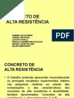 Concreto de Alta Resistência (2007)