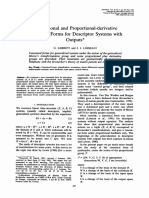 Proportional and Proportional-Derivative Canonical Forms for Descriptor Systems With Outputs