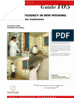 GPG105 Energy Efficiency in New Housing Site Practice for Tradesmen External Walls Insulated Dry Lining (1993 Rep 1994)