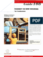 GPG108 Energy Efficiency in New Housing Site Practice for Tradesmen Windows and Doors Insulating Reveals (1993 Rep 1994)