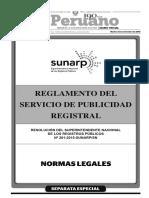 Reglamento del Servicio de Publicidad Registral