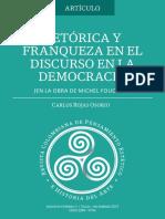Retórica y Franqueza en El Discurso en La Democracia (en La Obra de Michel Foucault) - Carlos Rojas Osorio
