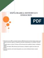 05.05.2014 Explorarea Sistemului Endocrin