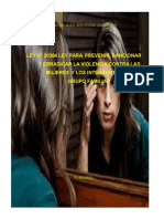 Ley 30364 Sobre Violencia Familiar