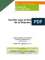 Reglamento Interno de Orden Hiegie y Seguridad Empresas