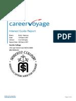 career voyage report