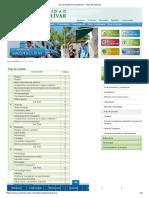 Universidad Simón Bolívar - Plan de Estudio