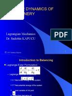 Bölüm 7 1 Lagrange Mechanics
