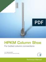 Peikko HPKM Column Shoe Technical Manual
