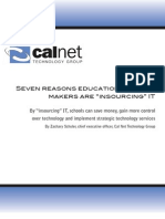 CAL NET Education IT Insourcing by Zack Schuler