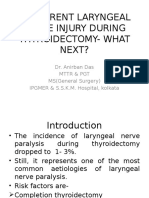 Recurrent Laryngeal Nerve Injury During Thyroidectomy- What Next