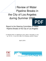 Expert Review of Water System Pipeline Breaks_LADWP_2009