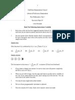 2013 Cape maths Specimen Paper Unit 2 Paper 1