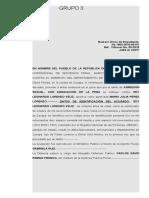 Sentencia Grupo No. 3 ( Francisco)