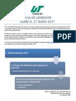 Proceso de Admision 27 Mayo 2017 1