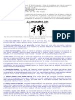 12 Preceptos Zen
