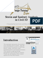 Storm And Sanitary Analysis In C3D