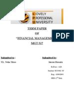 Account Term Paper