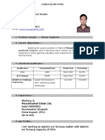 B.E Metallurgy Resume