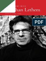 Jaime Clarke - Conversations With Jonathan Lethem