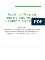 Progress Toward Security and Stability in Afghanistan - Jun 08