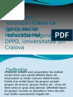 Sociologia_educatiei_Clasa CA Grup Socio-educational
