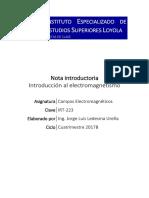 Tema 0 - Introduccion Al Electromagnetismo