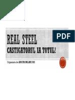 Regulament Real Steel