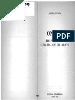 05077133 LUDMER - Onetti, Los Procesos de Construcción Del Relato