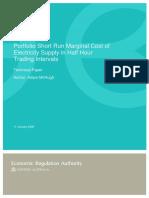 20080111 Short Run Marginal Cost - Technical Paper